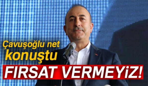 Bakan Çavuşoğlu: 'YPG/PKK'yı korumak için gelmek isteyenlere fırsat vermeyiz'