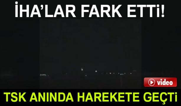 Afrin'e destek için gelen terör konvoyuna uyarı atışı