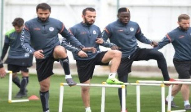 Atiker Konyaspor, Kayserispor maçı hazırlıklarını sürdürdü