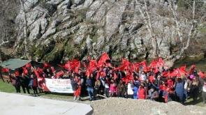 Konya'da Doğaseverler Çanakkale şehitleri anısına yürüdü