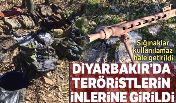 Diyarbakır'da teröristlerin inlerine girildi !