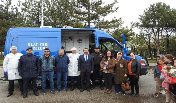 Konya'da İlkokul öğrencilerinden jandarmaya ziyaret