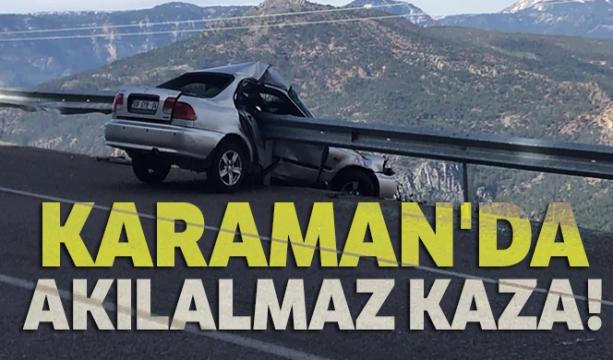 Karaman'da akılalmaz kaza!