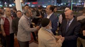 Başkan Altay, teravih sonrası vatandaşlarla buluştu