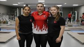 Konya'da Avrupa Şampiyonası'nda Türkiye'yi temsil edebilmek için ter döküyorlar