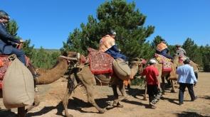 Konya'da Tarihi ticaret kervanı develerle canlandırıldı
