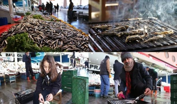Konya'da Balıklar tezgahta, tadımlıklar ızgarada