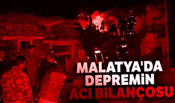 Malatya Valiliği tarafından yapılan açıklamada depremin acı bilançosu