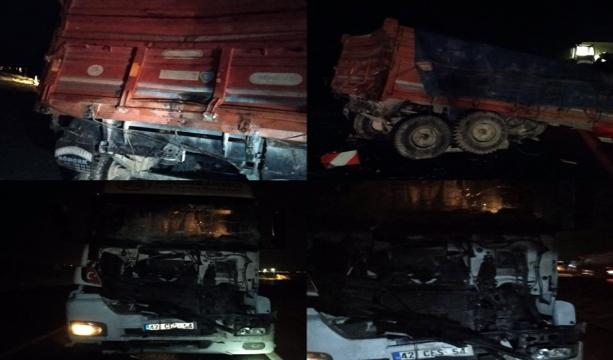 Konya'da tır ile traktör çarpıştı 1 ölü, 2 yaralı