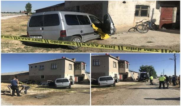 Konya'da Ticari araç evin duvarına çarptı 1 ölü, 2 yaralı