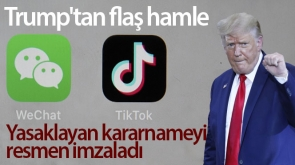 Trump'tan Çin merkezli mobil uygulamalarla iş yapmayı yasaklayan iki kararname