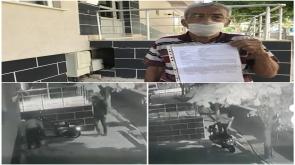 Konya'da Elektrikli motosikletin çalınma anı