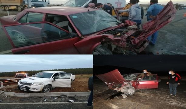 Konya'da otomobil kamyonetle çarpıştı: 2 yaralı