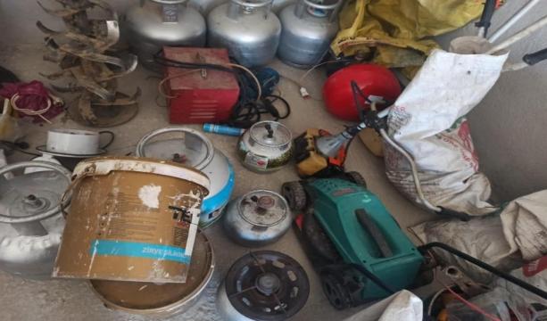 Konya'da Hırsızlık şüphelileri 150 farklı malzemeyle yakalandı