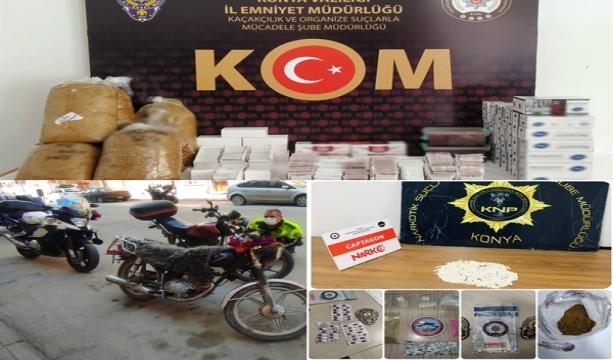 Narkotik- Asayiş- Kaçakçılık, Trafik ve İlçe  Ekiplerimizce Yapılan Çalışmalarda