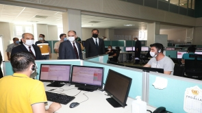 Vali Özkan, 112 Acil Çağrı Merkezi Müdürlüğü'nde İncelemelerde Bulundu