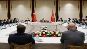Cumhurbaşkanı Erdoğan, Marmara Denizi'ndeki müsilaj meselesinin çözümü için YÖK tarafından oluşturulan akademik heyetle özel bir toplantı gerçekleştirdi