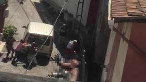 4 kişinin öldürüldüğü dehşet anları kamerada