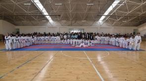 Karatay'da Taekwondo Kuşak Terfi Sınavı Yapıldı
