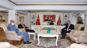 Cumhurbaşkanlığı Başdanışmanı Sayın Turgut ASLAN, İl Emniyet Müdürümüz Sayın Engin DİNÇ'i Makamında Ziyaret Etti