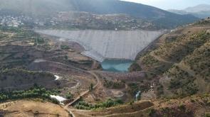 Afşar Hadimi Barajı'nda su tutuldu