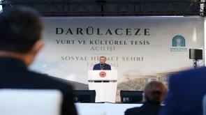 """Cumhurbaşkanı Erdoğan: """"Yurt binamız 901 öğrenci kapasitesiyle eğitim-öğretim hayatının önemli ihtiyaçlarından olan barınma sorununun çözümüne katkı sağlayacaktır"""""""