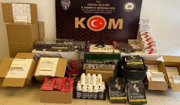 Konya merkezli 5 ilde kaçak sigara operasyonu 9 gözaltı
