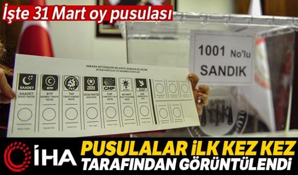 İşte 31 Mart'ta kullanılacak oy pusulası - Tıkla İzle