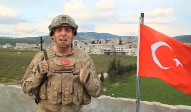 Afrin'deki Türk askerinden İstiklal Marşı videosu