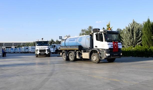 Konya'dan Düzce'ye destek