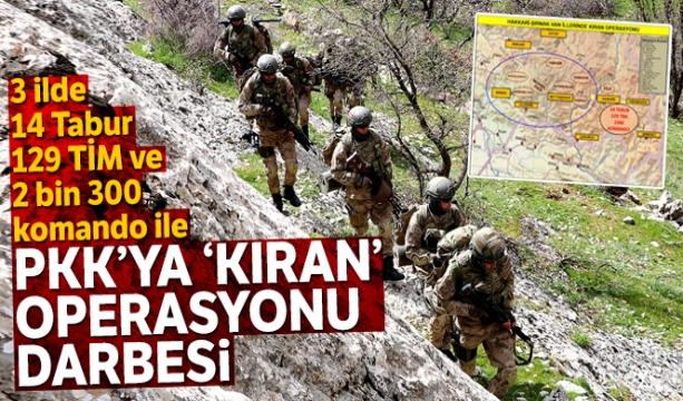 Terör Örgütü PKK'ya 'Kıran Operasyonu' darbesi
