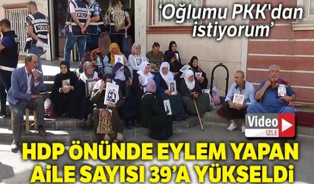 HDP önünde eylem yapan aile sayısı 16. günde 39'a yükseldi