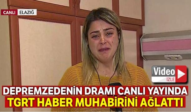 Eşini ve kızını kaybeden depremzedenin dramı TGRT Haber muhabiri Sultan Akten'i ağlattı