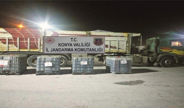 Konya'da Jandarma'dan kaçak akaryakıt operasyonu