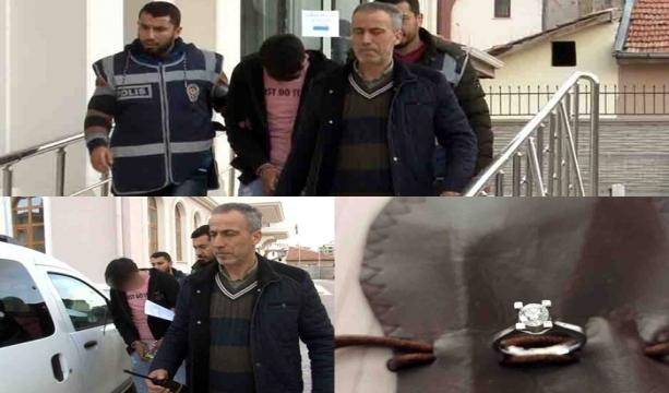 """Konya'da Eşya taşıdığı ev sahibinin yüzüğünü çaldı, yakalanınca """"Şeytana uydum"""" dedi"""