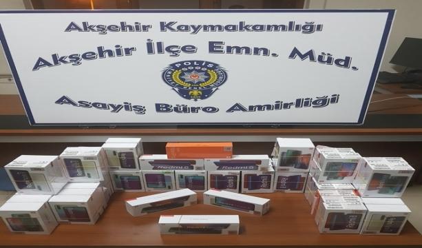 Konya'da 69 adet kaçak akıllı cep telefonu ele geçirildi