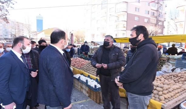 Başkan Altay'dan korona virüs denetimi