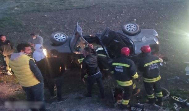 Konya'da Kontrolden çıkan otomobil şarampole yuvarlandı: 3 yaralı