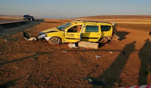 Konya'da ticari taksi şarampole devrildi 1 ölü, 5 yaralı