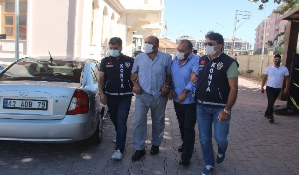 Konya'da Evine alacağını almaya gelen kişiyi öldüren şüpheli adliyeye sevk edildi