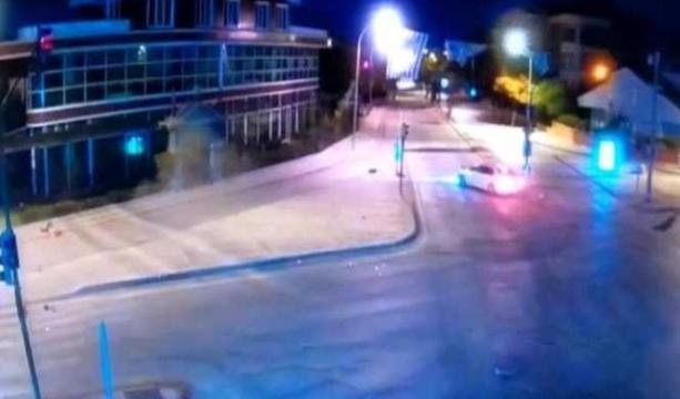 Edanaz ve Irmak'ın öldüğü kaza kamerada