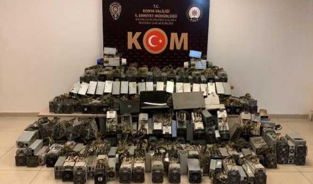 Konya'da kripto para operasyonu 1 gözaltı